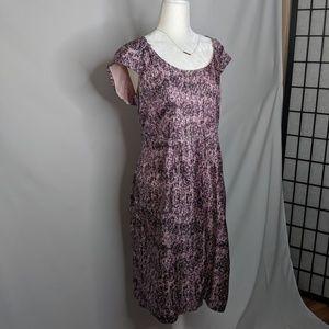Banana Republic Silk Printed Sheath Career Dress